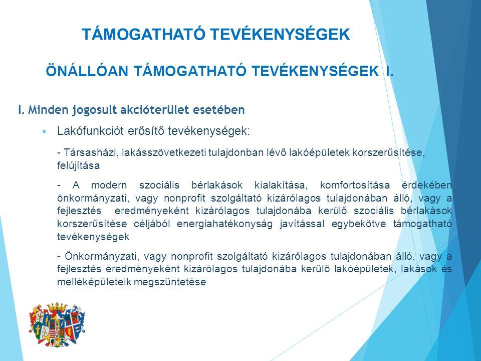 ÖNÁLLÓAN TÁMOGATHATÓ TEVÉKENYSÉGEK II.II.