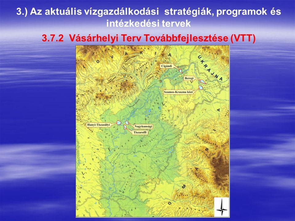 3.) Az aktuális vízgazdálkodási stratégiák, programok és intézkedési tervek 3.7.2 Vásárhelyi Terv Továbbfejlesztése (VTT)