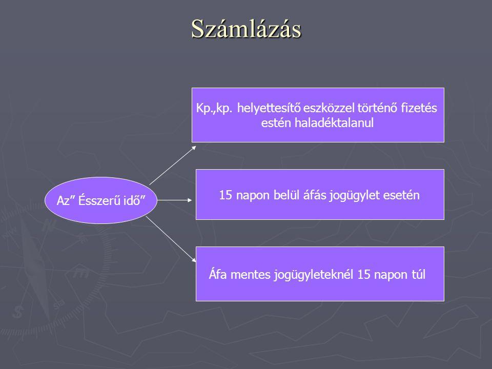 Számlázás Az Ésszerű idő Kp.,kp.