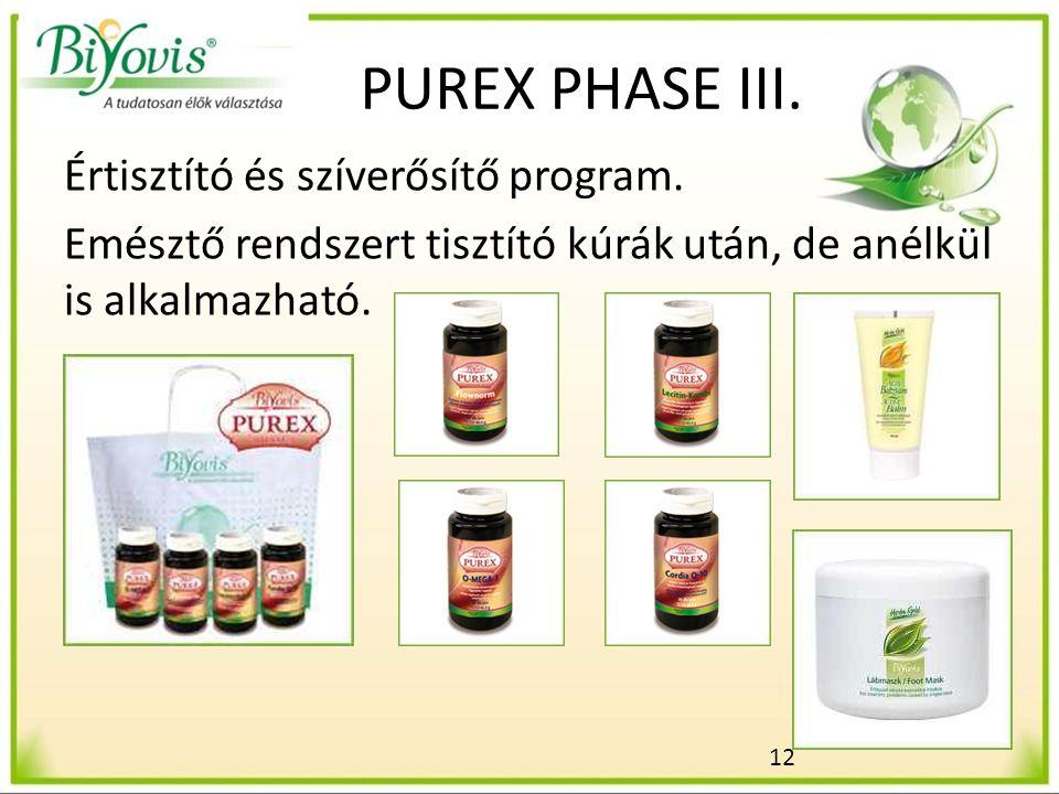12 PUREX PHASE III. Értisztító és szíverősítő program.