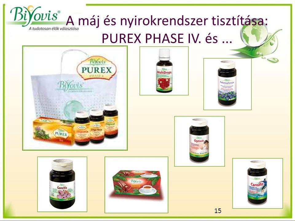 15 A máj és nyirokrendszer tisztítása: PUREX PHASE IV. és...