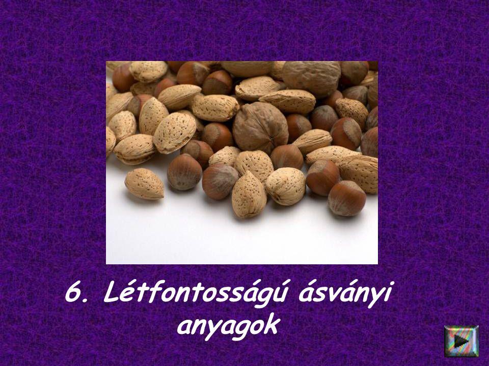 6. Létfontosságú ásványi anyagok