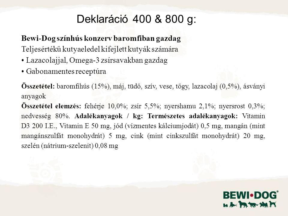 Bewi-Dog színhús konzerv baromfiban gazdag Teljesértékű kutyaeledel kifejlett kutyák számára Lazacolajjal, Omega-3 zsírsavakban gazdag Gabonamentes re