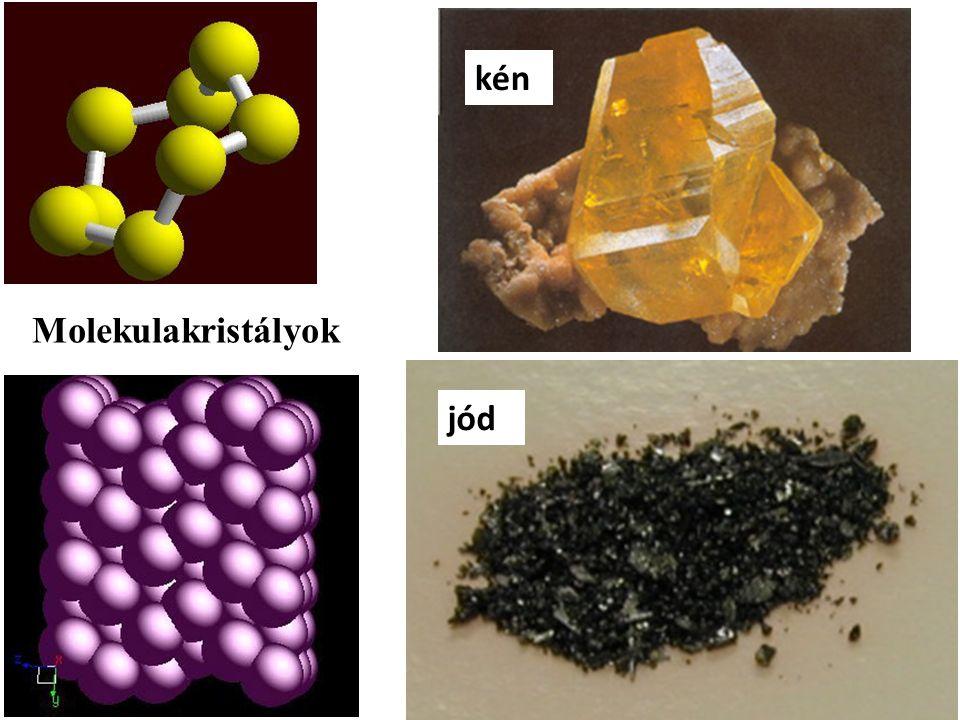 kén jód Molekulakristályok