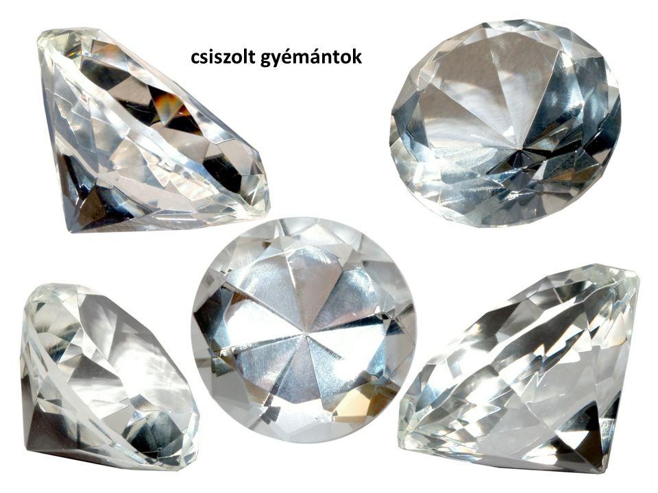 csiszolt gyémántok