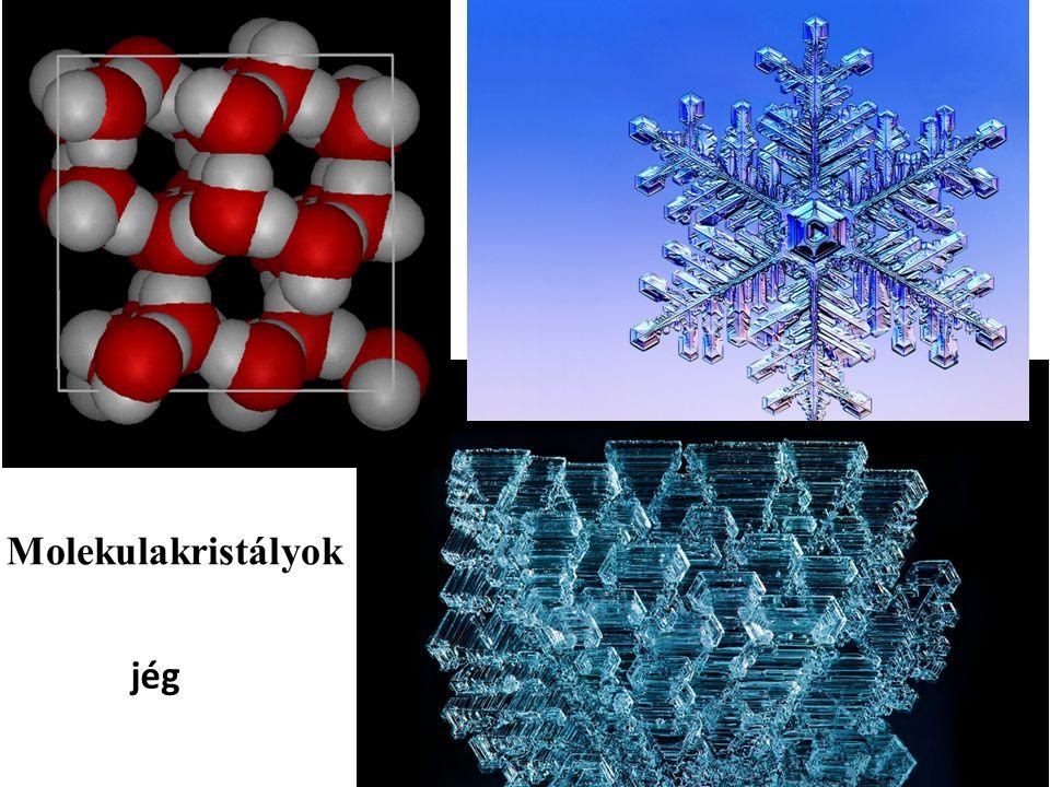 jég Molekulakristályok