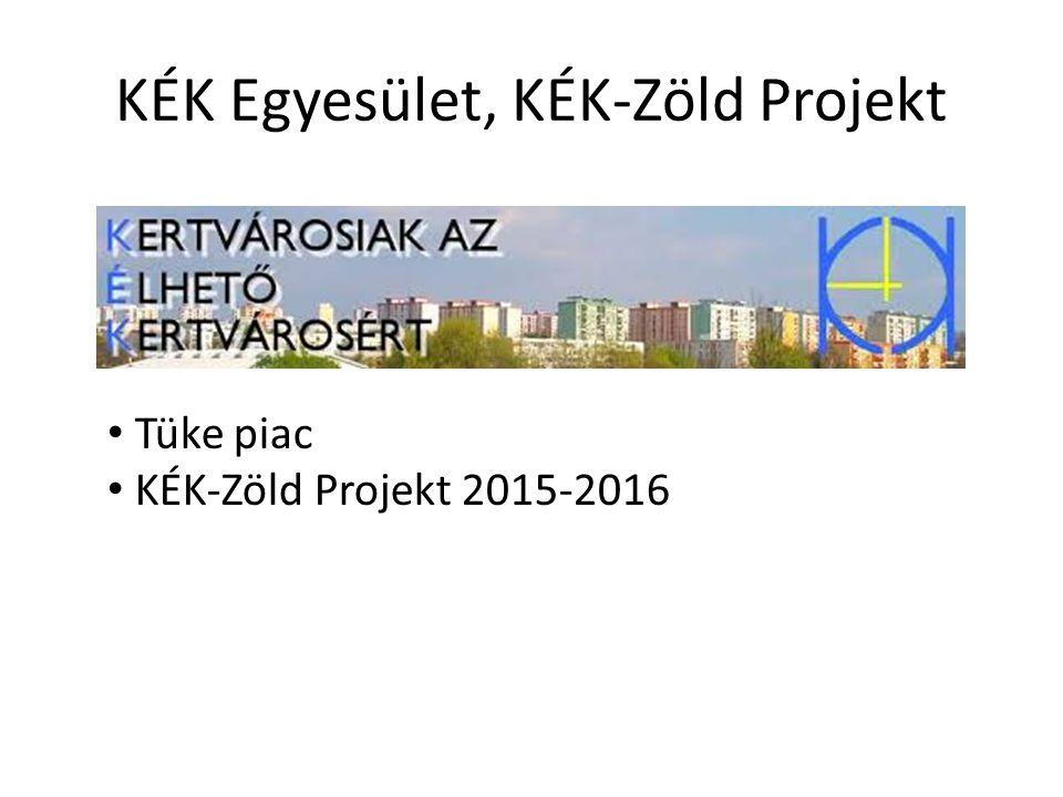KÉK Egyesület, KÉK-Zöld Projekt Tüke piac KÉK-Zöld Projekt 2015-2016