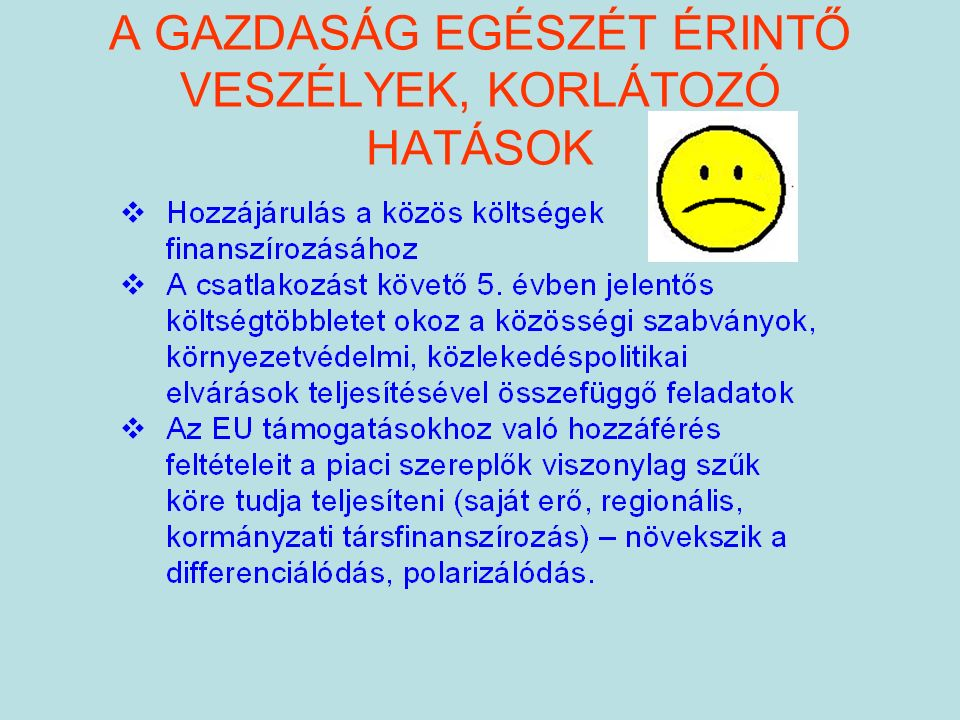 A NEMZETKÖZI KÖZÚTI ÁRUFUVAROZÁST BEFOLYÁSOLÓ TÉNYEZŐK Korszerű nemzetközi járműállomány Magyarország kedvező geográfiai helyzet Recessziós nemzetgazdaság Előrehaladott privatizáció Jelentős nemzetközi kapcsolat, tapasztalat Kabotázs lehetősége kölcsönösen tiltott Jelenleg alacsony a munkaerő bérköltsége