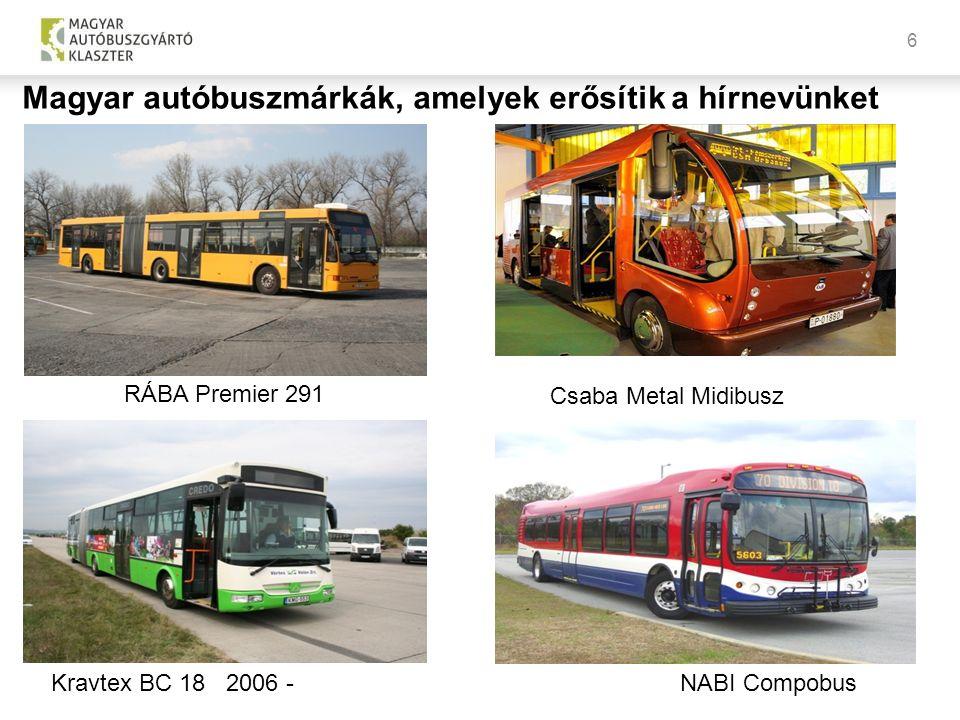 6 NABI CompobusKravtex BC 18 2006 - RÁBA Premier 291 Magyar autóbuszmárkák, amelyek erősítik a hírnevünket Csaba Metal Midibusz