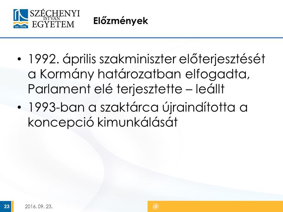 Előzmények 1992.
