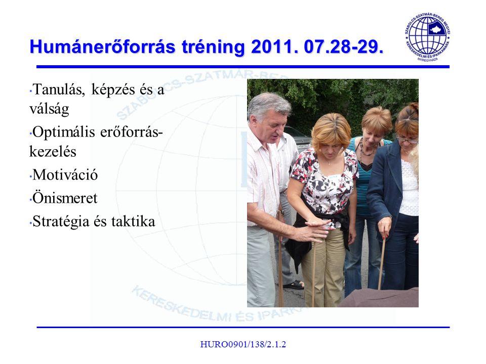 Humánerőforrás tréning 2011. 07.28-29.