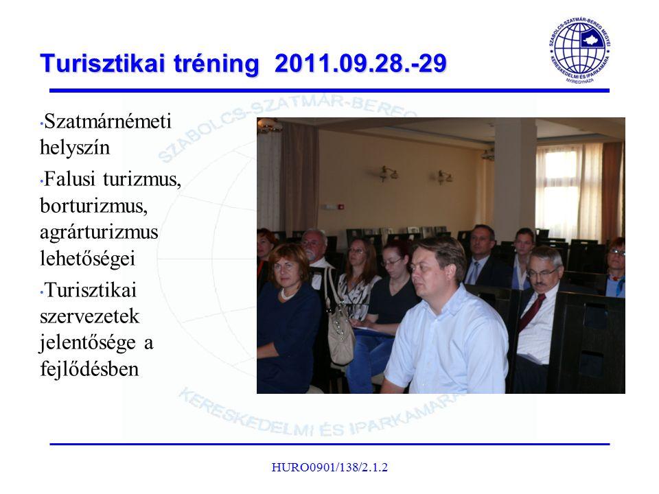 Turisztikai tréning 2011.09.28.-29 Szatmárnémeti helyszín Falusi turizmus, borturizmus, agrárturizmus lehetőségei Turisztikai szervezetek jelentősége