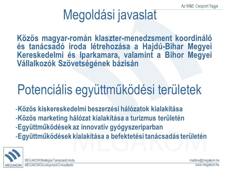 Az M&E Csoport Tagja MEGAKOM Stratégiai Tanácsadó Iroda www.megakom.hu MEGAKOM Development Consultants mailbox@megakom.hu Megoldási javaslat Közös mag