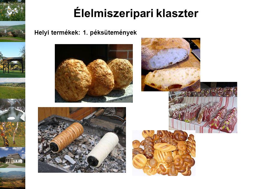 Élelmiszeripari klaszter Helyi termékek: 1. péksütemények
