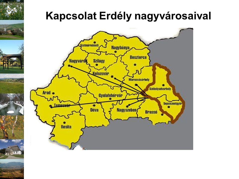 Kapcsolat Erdély nagyvárosaival