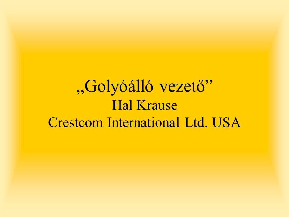 """Golyóálló vezető"" Hal Krause Crestcom International Ltd. USA"