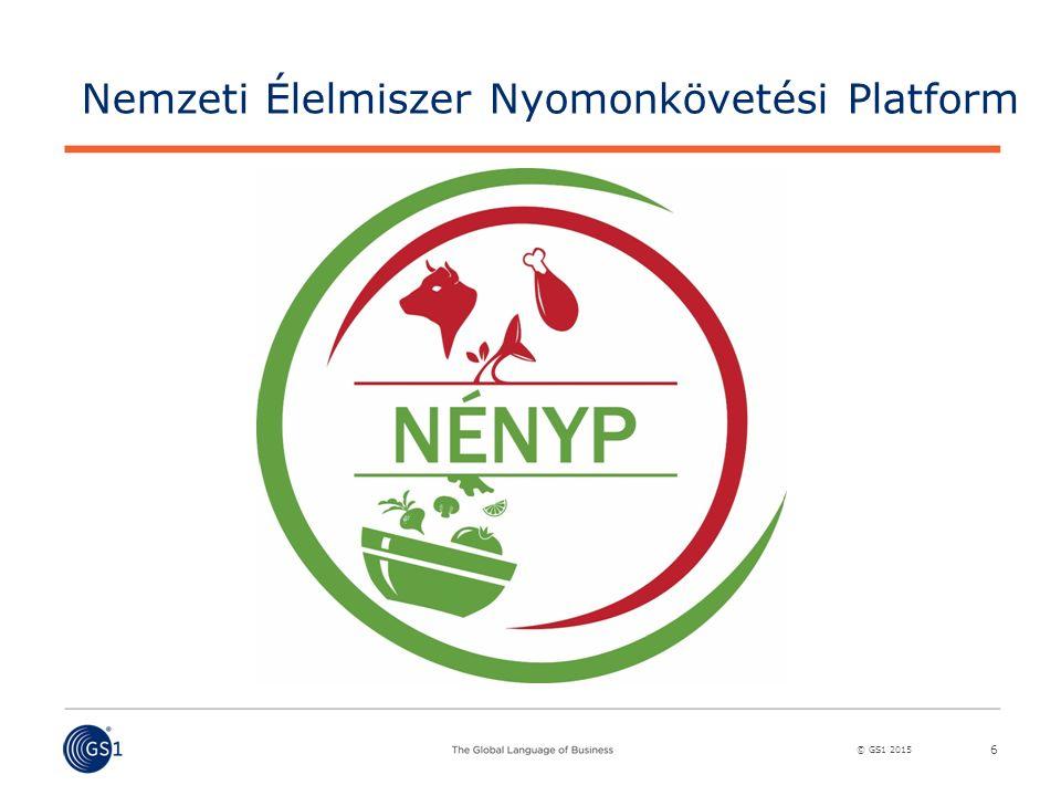 © GS1 2015 6 Nemzeti Élelmiszer Nyomonkövetési Platform