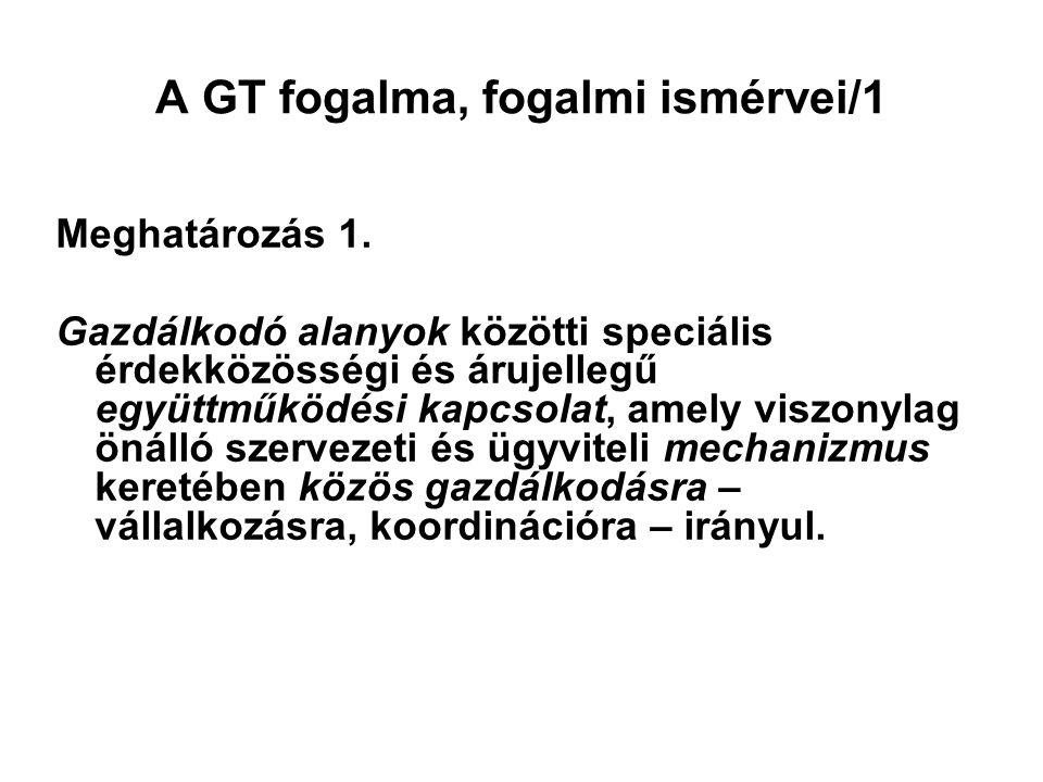 A GT fogalma, fogalmi ismérvei/1 Meghatározás 1.