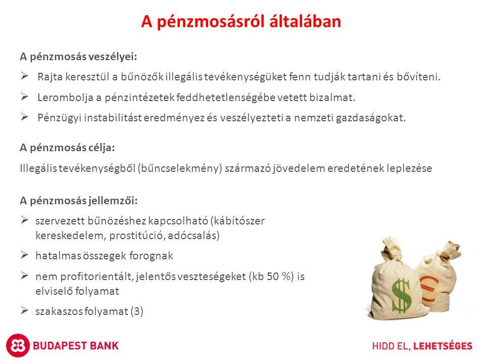 A pénzmosás veszélyei:  Rajta keresztül a bűnözők illegális tevékenységüket fenn tudják tartani és bővíteni.  Lerombolja a pénzintézetek feddhetetle