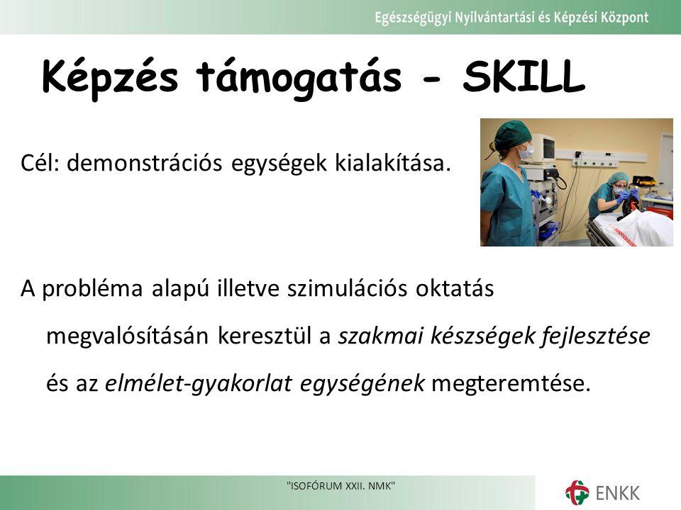 Képzés támogatás - SKILL Cél: demonstrációs egységek kialakítása.