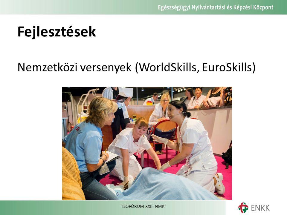 Fejlesztések Nemzetközi versenyek (WorldSkills, EuroSkills) ISOFÓRUM XXII. NMK