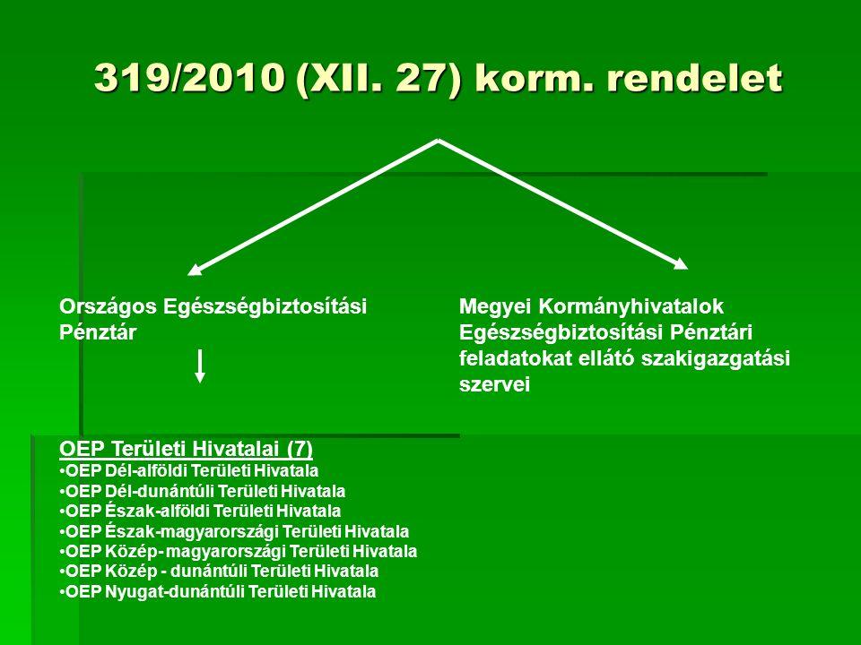319/2010 (XII. 27) korm.