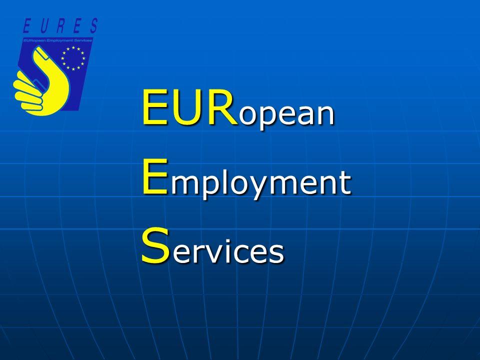 Az EURES hálózat Célok és feladatok: Célok és feladatok: oEU/EGT országai közötti munkaer ő -áramlás el ő segítése oInformációnyújtás és tanácsadás munkavállalók részére a külföldi álláslehet ő ségekr ő l és munkavállalási körülményekr ő l oSegítségnyújtás munkáltatók részére a külföldi munkaer ő -toborzáshoz