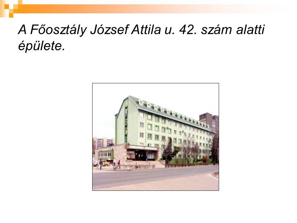 A Főosztály József Attila u. 42. szám alatti épülete.