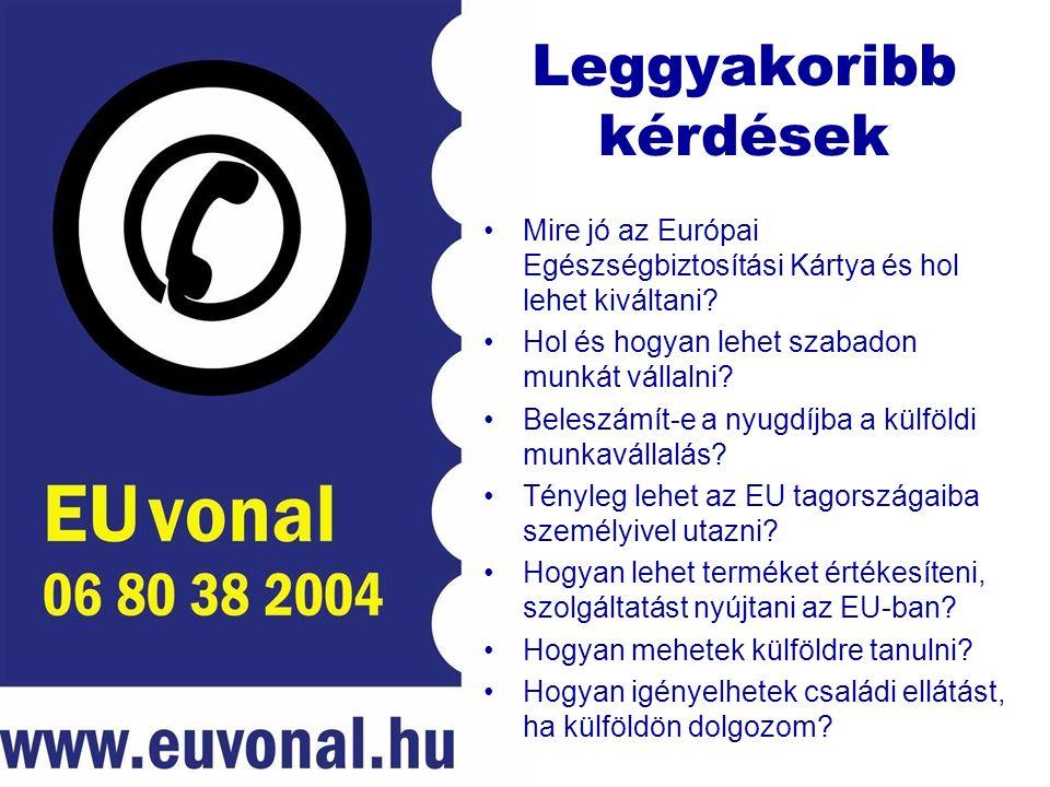 Leggyakoribb kérdések Mire jó az Európai Egészségbiztosítási Kártya és hol lehet kiváltani.