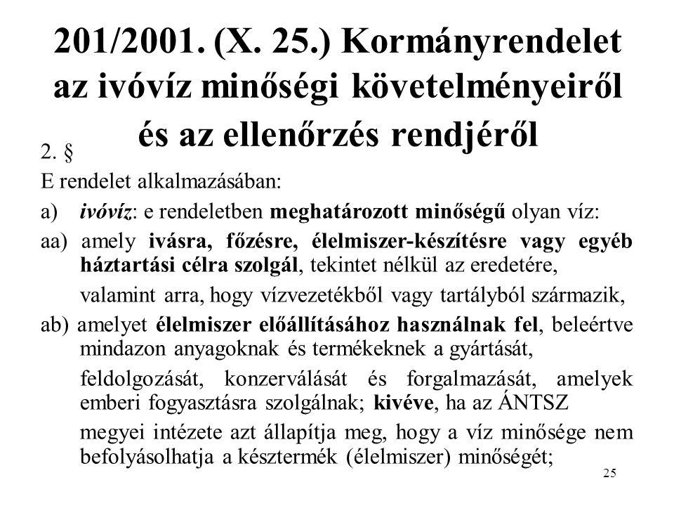 25 201/2001. (X.