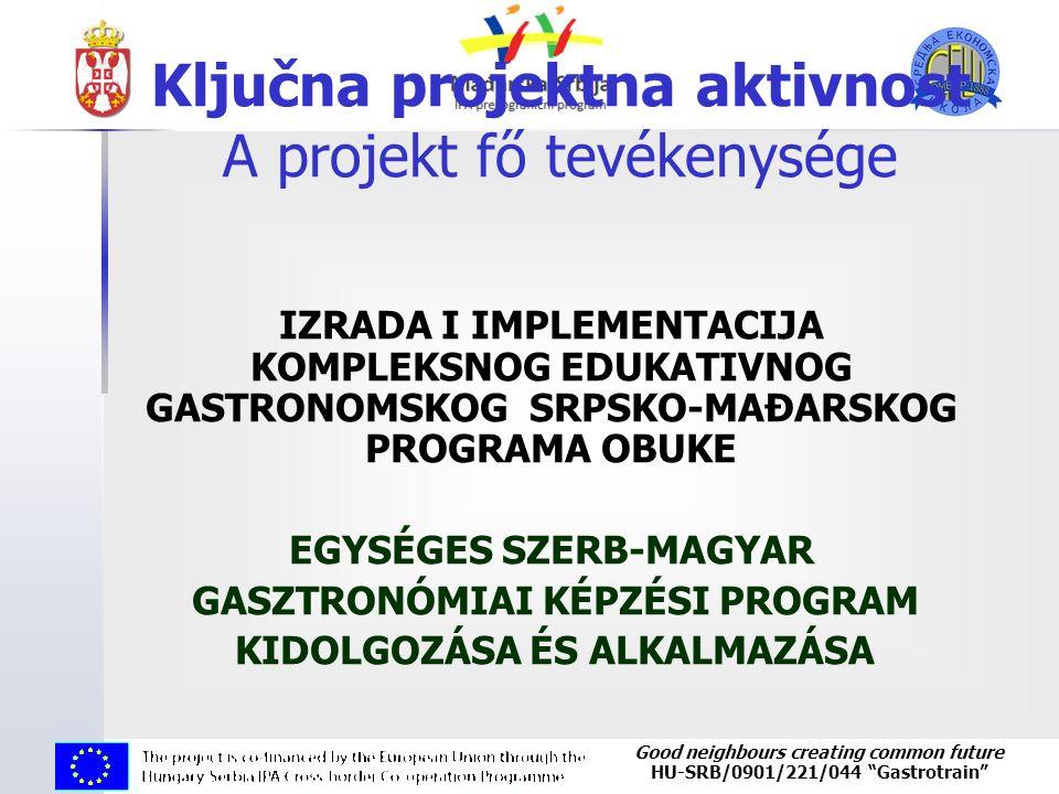 "Good neighbours creating common future HU-SRB/0901/221/044 ""Gastrotrain"" Ključna projektna aktivnost A projekt fő tevékenysége IZRADA I IMPLEMENTACIJA"