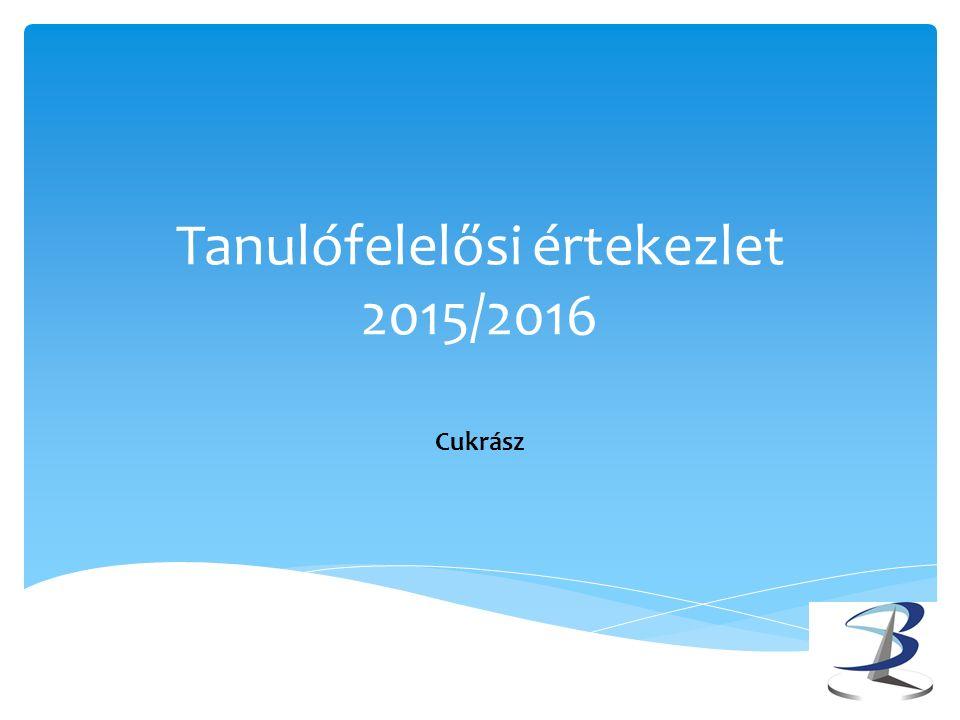 Tanulófelelősi értekezlet 2015/2016 Cukrász