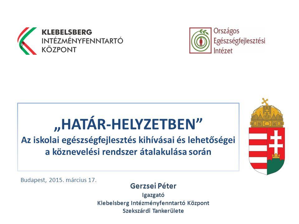 Klebelsberg Intézményfenntartó Központ www.klik.gov.hu Köszönöm a figyelmet.