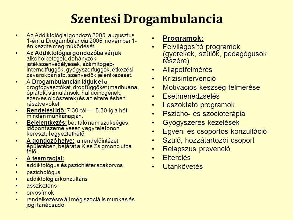 Szentesi Drogambulancia Az Addiktológiai gondozó 2005.