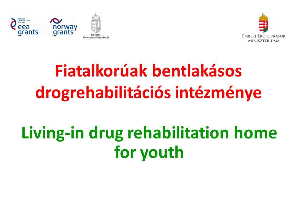 Fiatalkorúak bentlakásos drogrehabilitációs intézménye Living-in drug rehabilitation home for youth