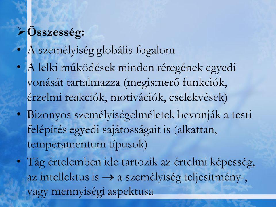 Humanisztikus irányzatok: -A személyt mint önmegvalósító lényt fogják fel -Az egyén aktív részese önmaga kibontakoztatásának, önmaga megvalósításának -Egyik meghatározó elméletalkotója: Abraham Maslow Humanisztikus pszichoterápia erre épül (Carl Rogers) → - empátiás kommunikáció - kliens feltétel nélküli elfogadása - terapeuta kongruenciája, hitelessége