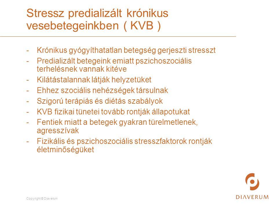 Copyright © Diaverum -Fáradtság - Energiaszint csökkenés - Fájdalom : 55 év felett betegek 50 %-át érinti - Izomfájdalmak, izomgörcsök - Viszketés - Hányinger - Hányás Fizikális stresszfaktorok