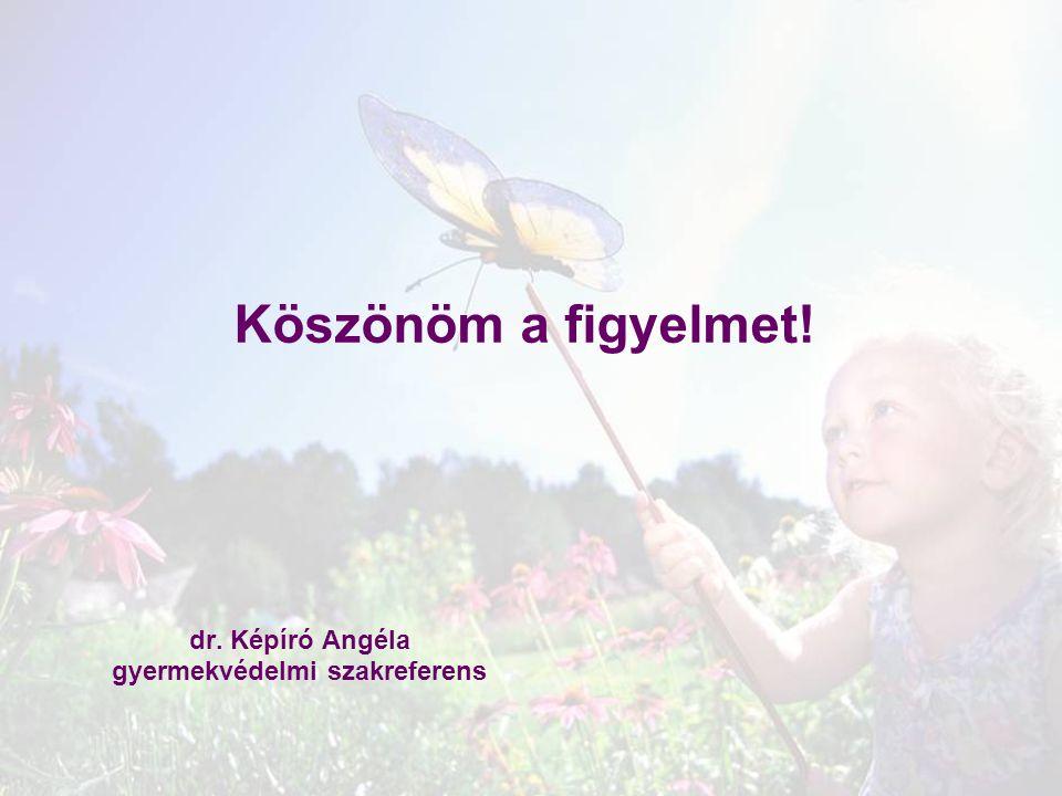 Köszönöm a figyelmet! dr. Képíró Angéla gyermekvédelmi szakreferens