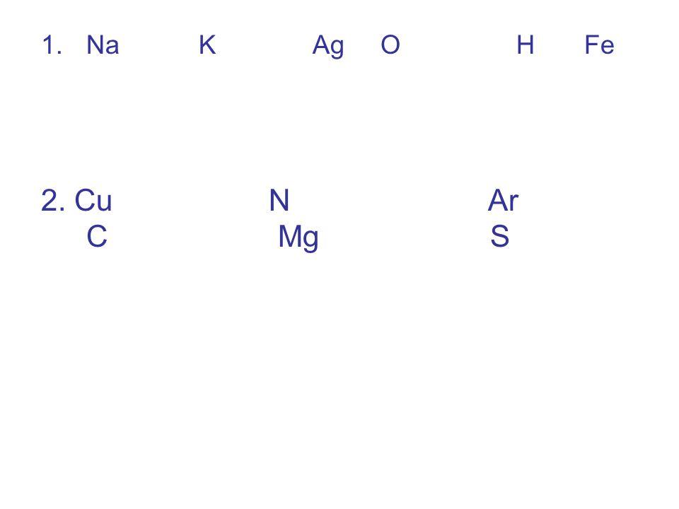3.Melyik elem vegyjeleit írtam fel.Ca; C; Co; K; Kr; I;Si; S; N; Na 4.Mi a vegyjel.