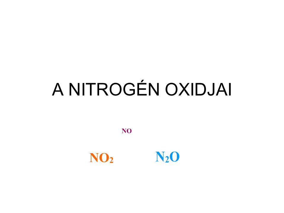 Nitrogén-dioxid A nitrogén változó vegyértékű elem.
