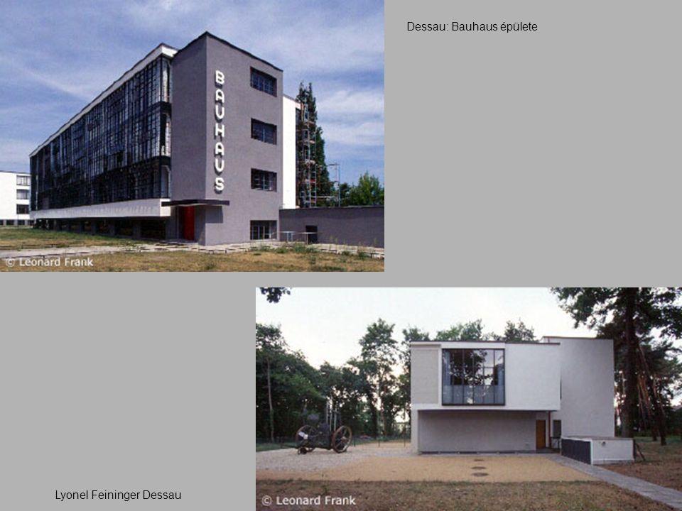Dessau: Bauhaus épülete Lyonel Feininger Dessau