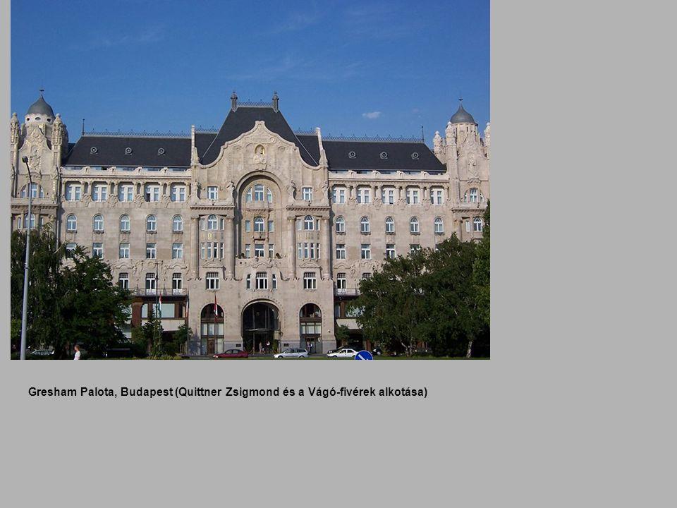 Gresham Palota, Budapest (Quittner Zsigmond és a Vágó-fivérek alkotása)