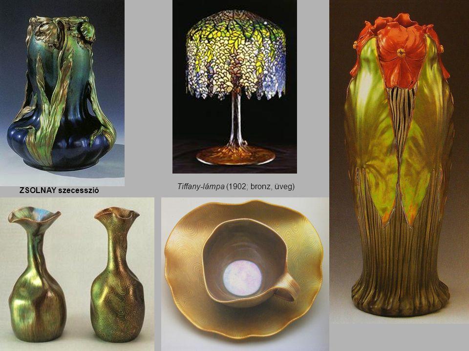 Tiffany-lámpa (1902; bronz, üveg) ZSOLNAY szecesszió