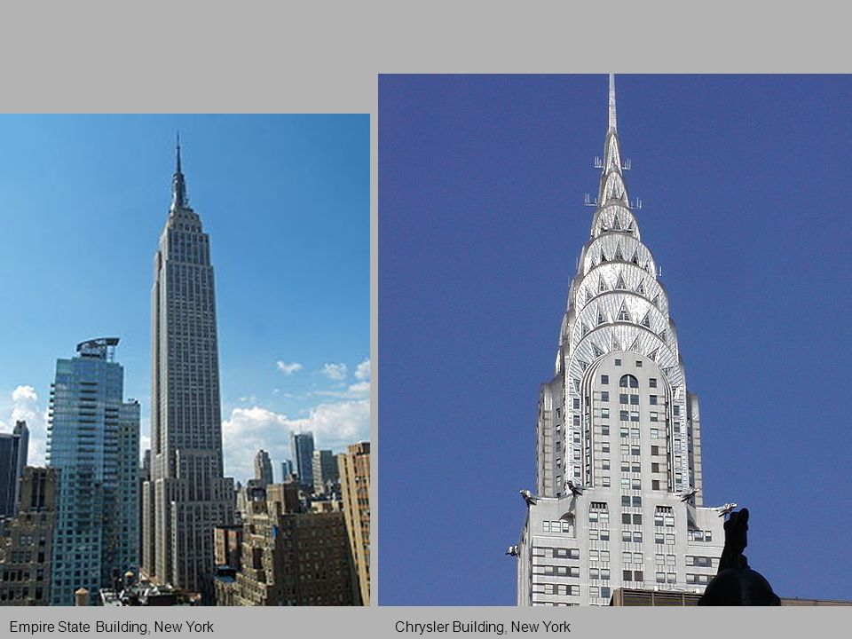 Empire State Building, New YorkChrysler Building, New York
