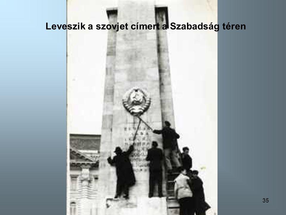 34 Kossuth Lajos téri sortüz elöl menekülnek