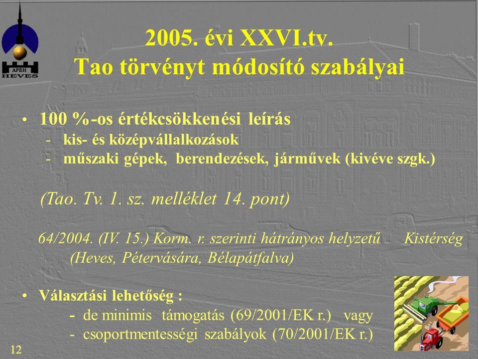 12 2005. évi XXVI.tv.