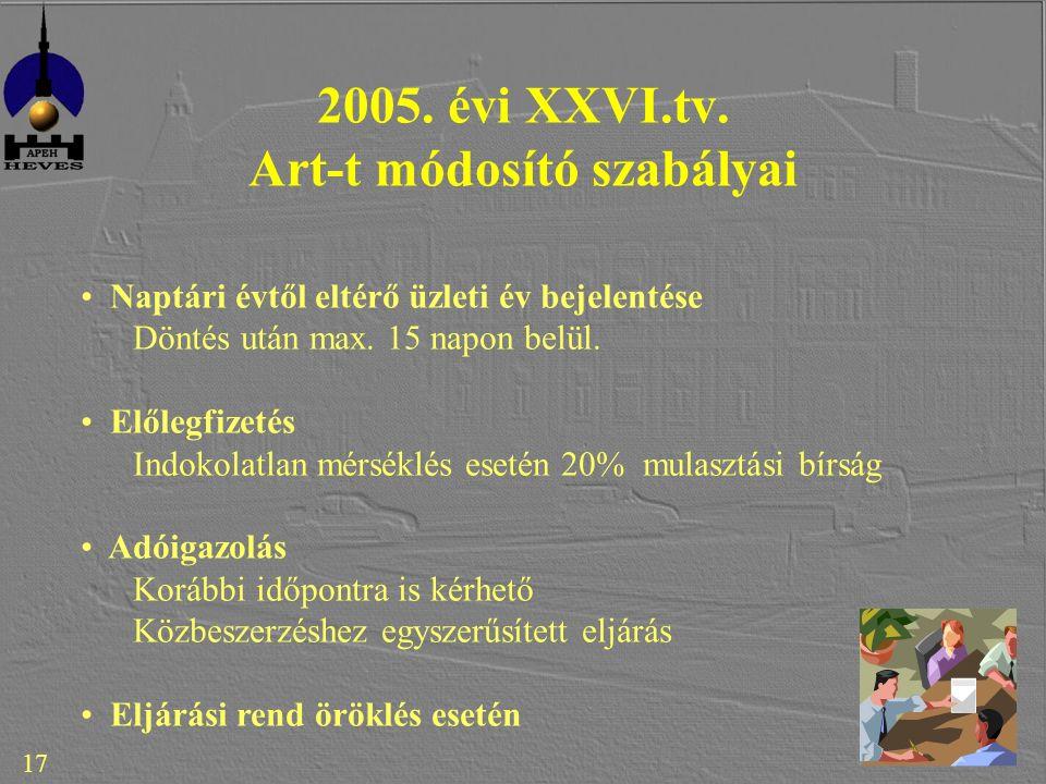 17 2005. évi XXVI.tv.