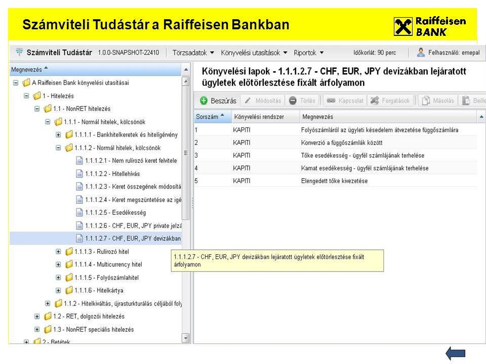 Számviteli Tudástár a Raiffeisen Bankban