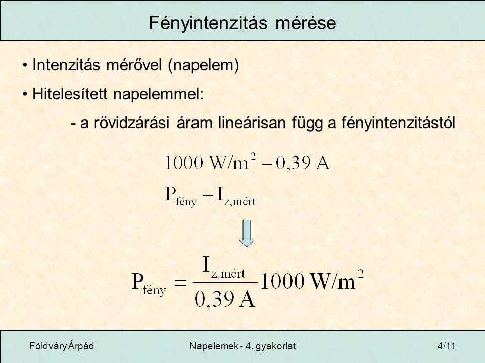 Földváry ÁrpádNapelemek - 4.