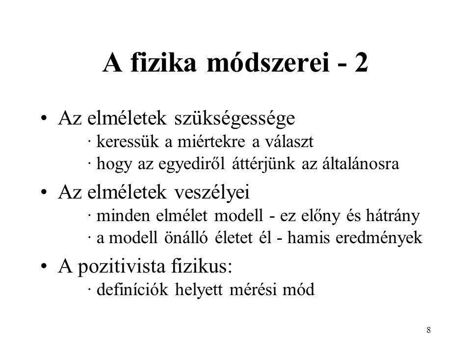 7 A fizika módszerei - 1 Csak mérés és megfigyelés.